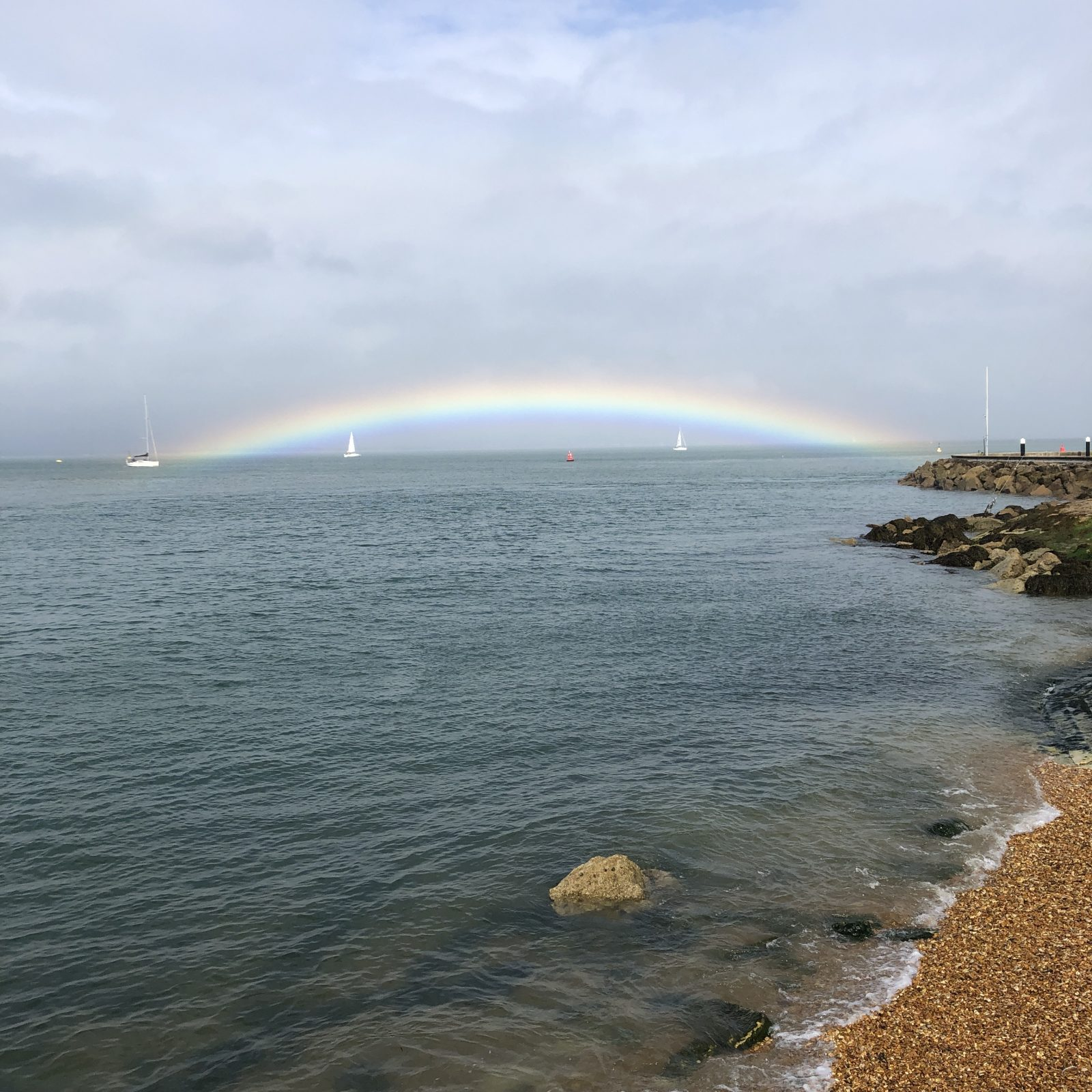 Rainbow over the Solent